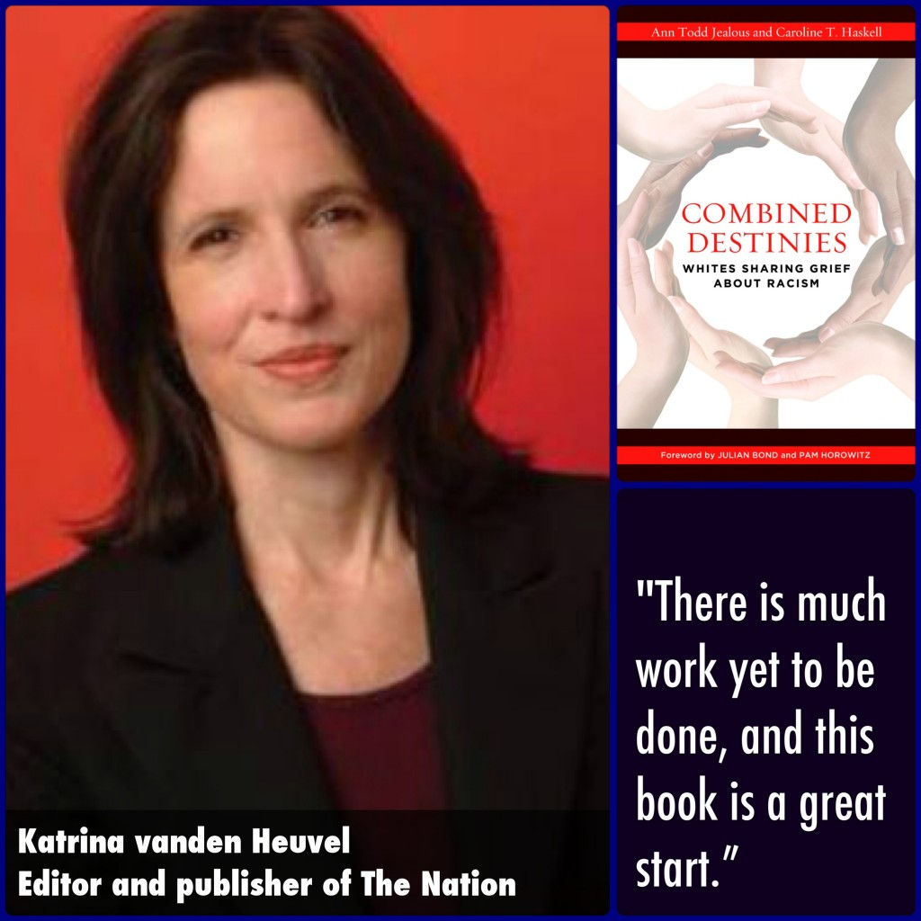 Katrina vanden Heuvel Combined Destinies Endorsement